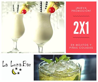 La Luna Bar - Promoción 2x1 Moitos y Piñas Coladas