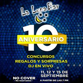 La Luna Bar - 10 Aniv - Add
