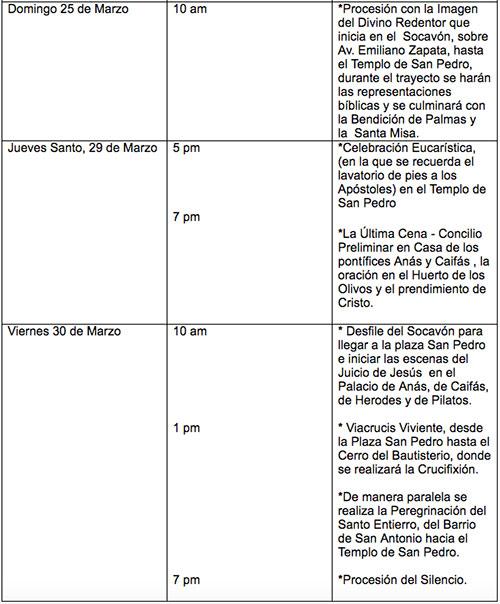 Viacrucis de la Cañada -Programa 2018