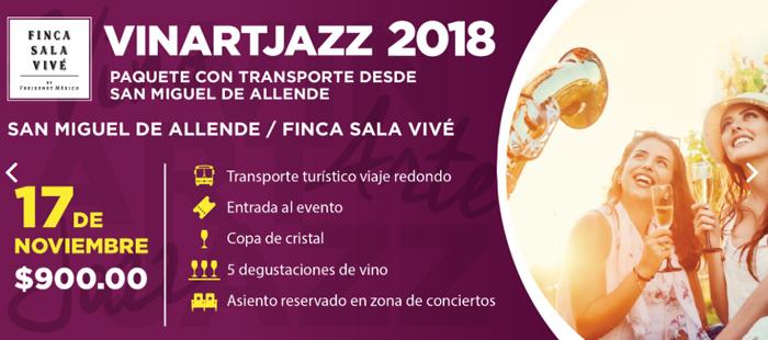 Paquete Vin Art Jazz desde SMA