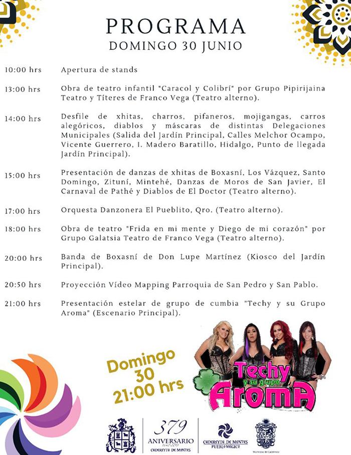"""Festival Cultural Gastronómico """"Cadereyta y sus Delegaciones"""" 2019 - Programa 2"""