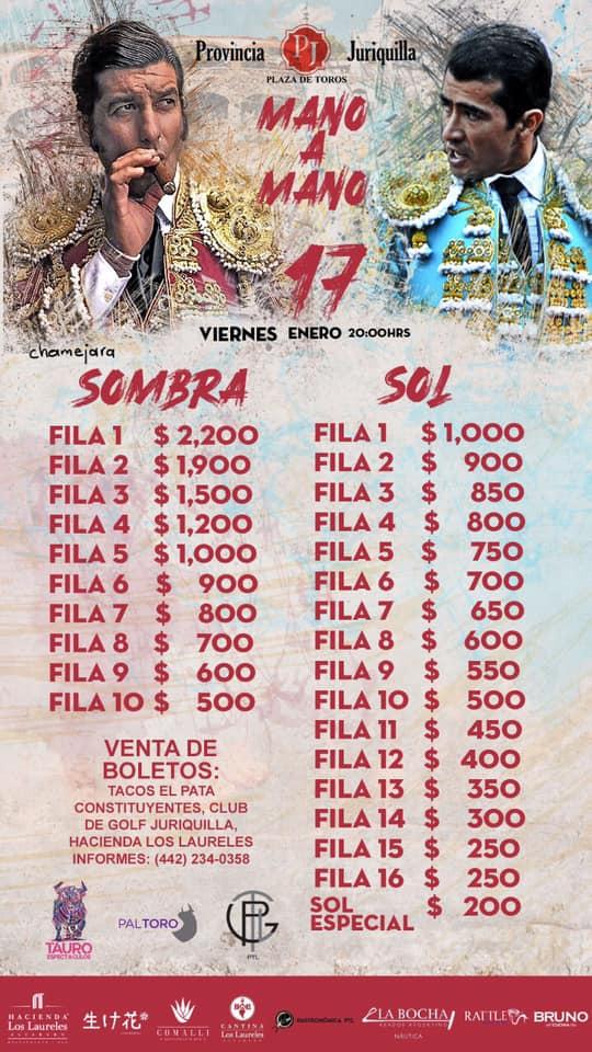 Provincia Juriquilla - Mano a Mano - 17 Enero 2020 - costos