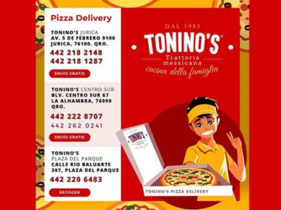 Tonino's Pizza a domicilio