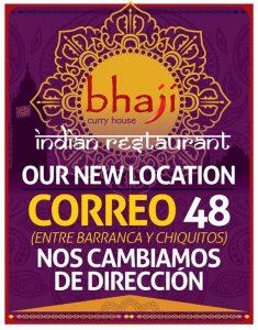 Restaurante Bhají - Nueva Dirección