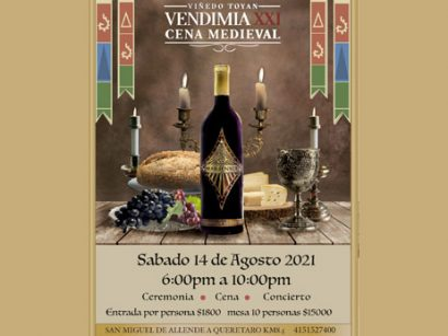 Vendimia y Cena Medieval en Vinícola Toyán